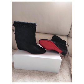 Christian Louboutin-Louboutin Boots-Dark grey