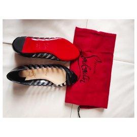 Christian Louboutin-Louboutin leather and PVC ballet flats-Black