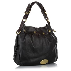 Mulberry-Mulberry Black Mitzy Leather Shoulder Bag-Black