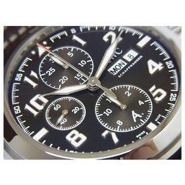 IWC-IWC lined Chronograph Antoine De  Saint Exupery Mens-Brown