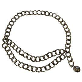 Chanel-Vintage Chanel chain belt-Silver hardware