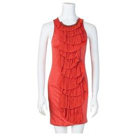 3.1 Phillip Lim-Ruffle Shift Dress-Red