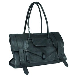 Proenza Schouler-Black leather tote-Black