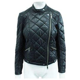 Burberry-Black Diamond Quilted Jacket-Black