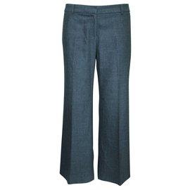 Burberry-Grey Woolen Office Pants-Grey