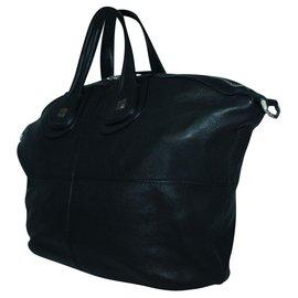 Givenchy-Nightingale Black Leather Bag-Black