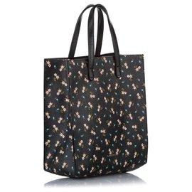 Givenchy-Givenchy Black Antigona Floral Leather Tote Bag-Black,Multiple colors