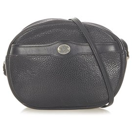 Dior-Dior Black Leather Crossbody Bag-Black