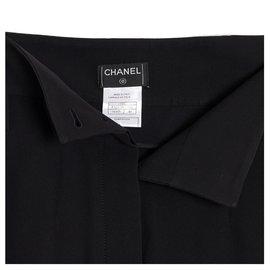 Chanel-07A black silk crepe fr40-Black