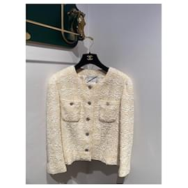 Chanel-Skirt suit-Beige