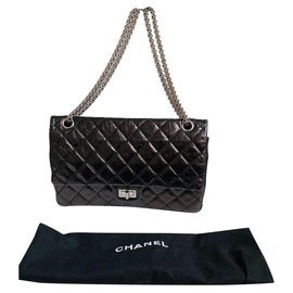 Chanel-Chanel 2.55 Reissue first Coco Chanel own bag-Black,Silver hardware