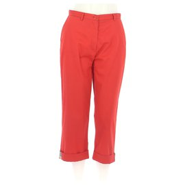 Burberry-Cropped trousers-Red