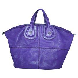 Givenchy-Purple Nightingale Tote-Purple