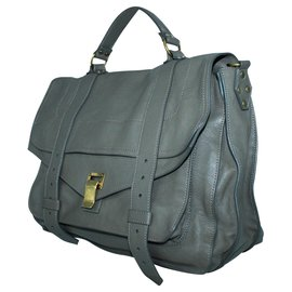 Proenza Schouler-Taupe Leather PS1 Shoulder bag-Grey