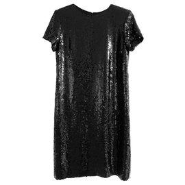 Chanel-Chanel Black 'Paris-Hamburg' Black Sequin Dress-Black