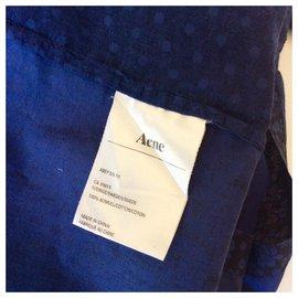 Acne-Cotton jumpsuit-Blue