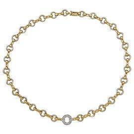 Cartier-Collier Cartier deux ors, diamants.-Autre