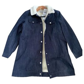 Christian Dior-Girl Coats outerwear-Dark blue