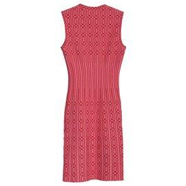 Alaïa-Alaia Mesh Dress-Pink,Peach