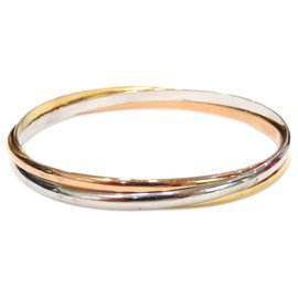 Cartier-Cartier Gold 18K Trinity Bangle-Multiple colors,Golden