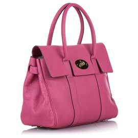 Mulberry-Mulberry Pink Bayswater Leather Handbag-Pink