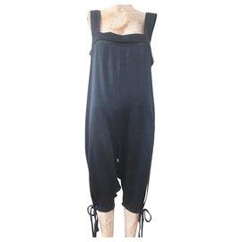 Stella Mc Cartney-Stella McCartney for H&M Black Silk Jumpsuit-Blue