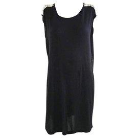 Givenchy-Black Embellished Dress-Black
