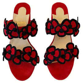 Christian Louboutin-Sandals-Black,Red
