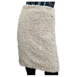 Chanel-Skirts-Beige