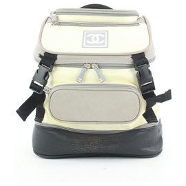 Chanel-Grey Black CC Logo Sports Backpack-Other