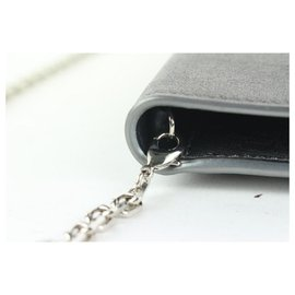 Dior-Pewter Silver Chain Flap Crossbody Bag-Other