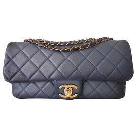 Chanel-Classic Chanel tie and dye bag-Blue