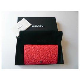 Chanel-CHANEL Wallet Camélia Corail new-Coral