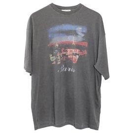 Balenciaga-Black Balenciaga Paris T-Shirt-Black