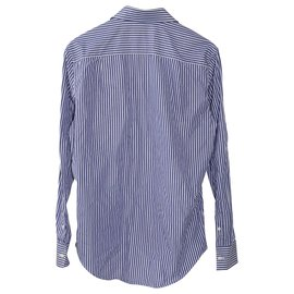 Balenciaga-Blue Striped Long Sleeve Shirt-Blue,Light blue