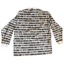 Balenciaga-White HTTP Sweatshirt-White