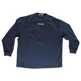 Balenciaga-Black Spandex Sweatshirt-Black
