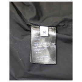 Balenciaga-Black All Over Logo Normal Fit Shirt-Black