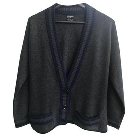 Chanel-Cashmere cardigan by Chanel-Blue,Grey