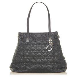 Dior-Dior Black Cannage Panarea Tote Bag-Black