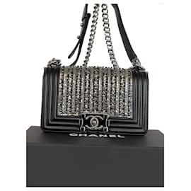 Chanel-Edição limitada de pequenas pérolas e cristais da Chanel embelezados-Preto