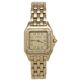"""Cartier-Cartier """"Panthère"""" watch in yellow gold and diamonds.-Other"""