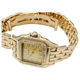"""Cartier-Montre Cartier """"Panthère"""" en or jaune et diamants.-Autre"""