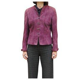 Akris-Akris t suede jacket 40 New condition-Lavender