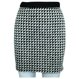 3.1 Phillip Lim-Black and White Pencil Skirt with Crystal Embellishments-Multiple colors
