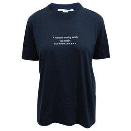 Stella Mc Cartney-Navy Printed Cotton-Jersey T-shirt-Blue,Navy blue