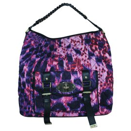 Mulberry-Alexa Hobo Leopard Quilted Denim Tote-Multiple colors