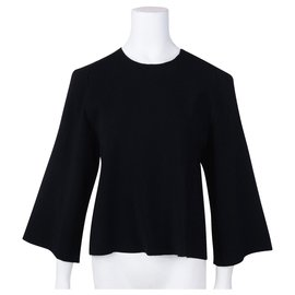 Stella Mc Cartney-Sweater with Cutout Sleeve-Black