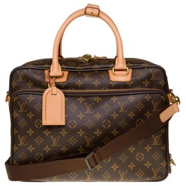 Louis Vuitton-Louis Vuitton Alize travel bag in monogram canvas and natural leather, New condition-Brown