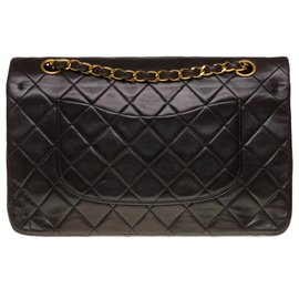 Chanel-Splendid Chanel Timeless Medium bag in brown quilted leather, garniture en métal doré-Dark brown